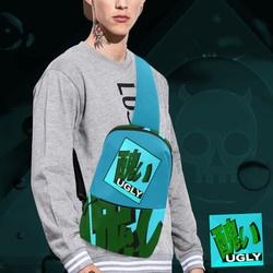 UGLY logo chest bag Acqua Blue The Lowest of Low