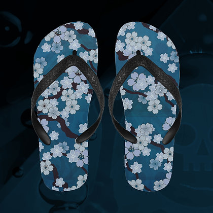 The Lowest of Low Sakura Breeze Flip Flops beach shower swimming pool summer fun shoes Night Blossoms