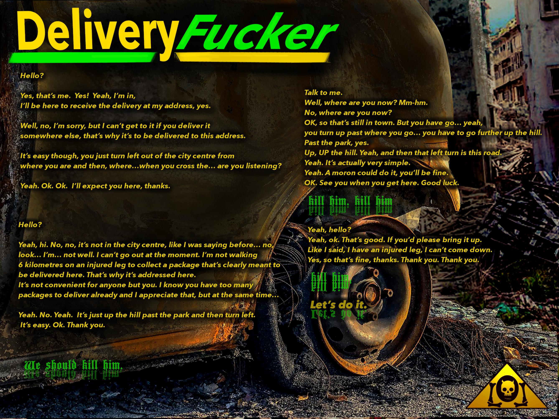 Delivery Fucker Lyrics Sheet