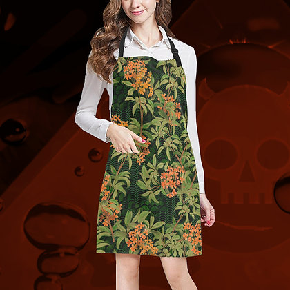 The Lowest of Low Kinmokusei floral all over print apron kitchen cooking garden crafts mucky jobs cleaning adjustable gifty
