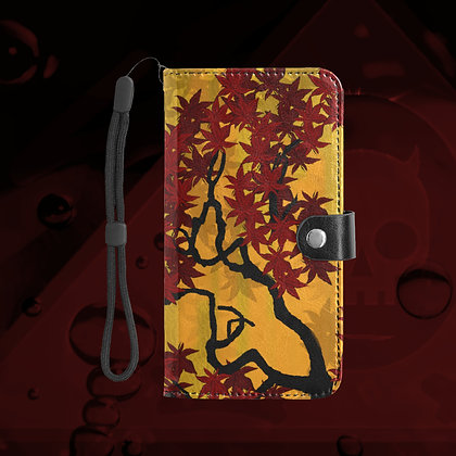 The Lowest of Low Maple 2020 Large Size Snap Purse Phone Wallet with detachable strap, card slots, easy snap closure