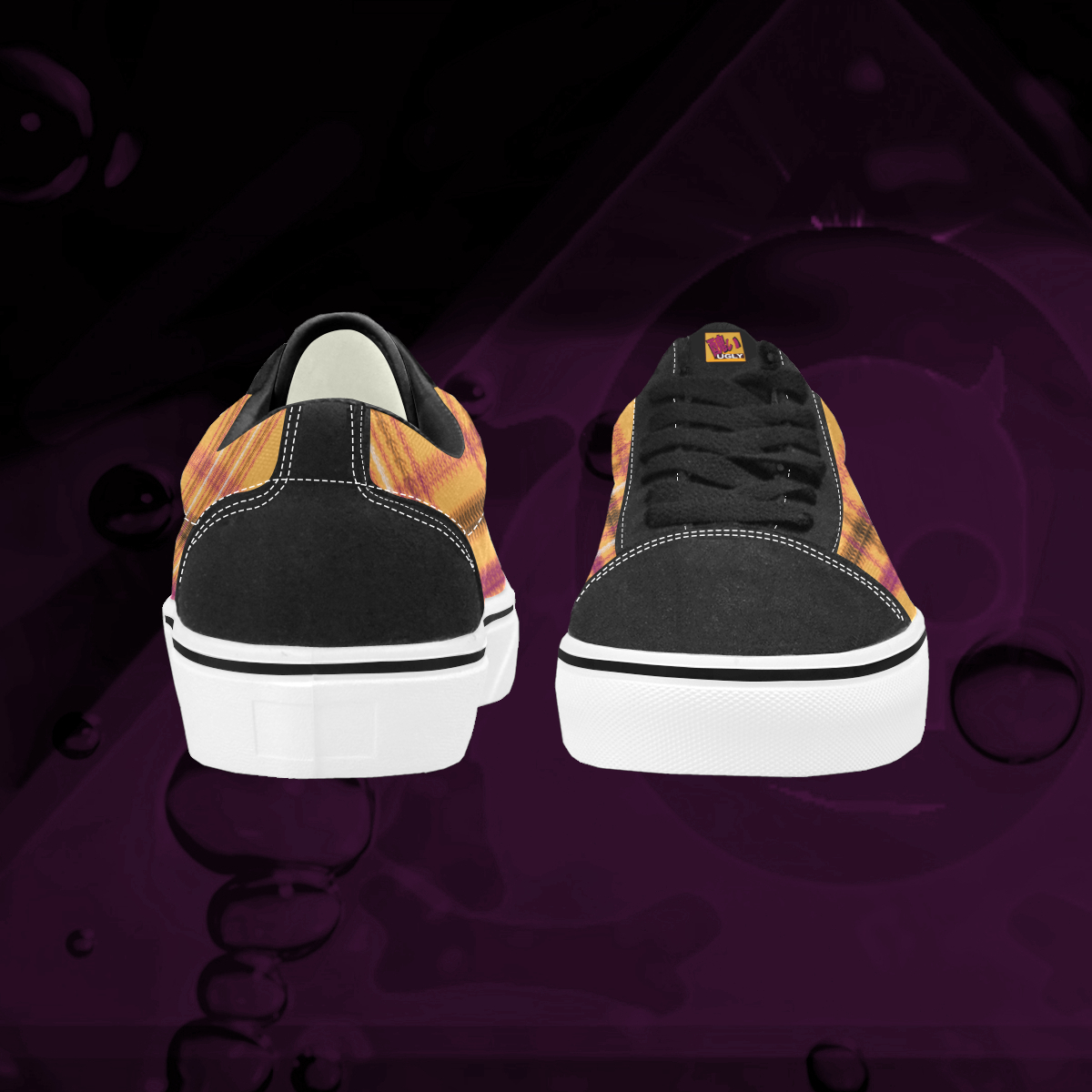 UGLY tartan low top skate shoes The Lowest of Low Tang