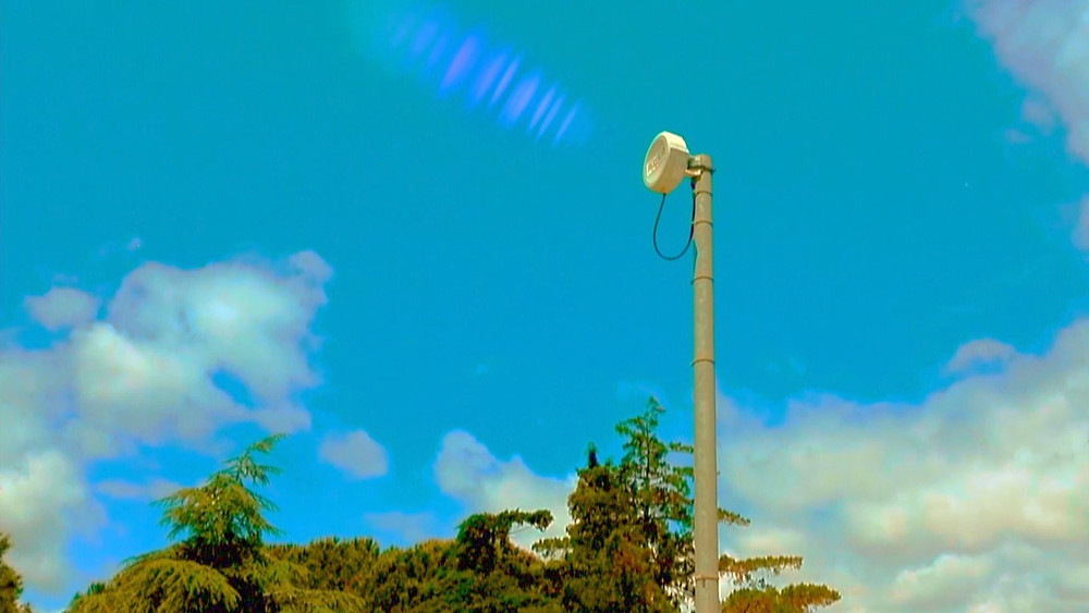 Satellite internet communications dish The Lowest of Low Spacegoat vs. the Algorons, Attack of the Algorons short film movie still