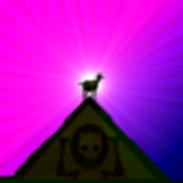 The Lowest of Low goat pyramid triangle logo pink purple Egyptian Sicilian spacegoat band image