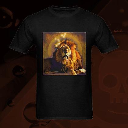 The Lowest of Low Leo the Lion Astrology Zodiac sign 100% Cotton T-shirt (front) esoteric colors US Sizes S M L XL 2XL 3XL