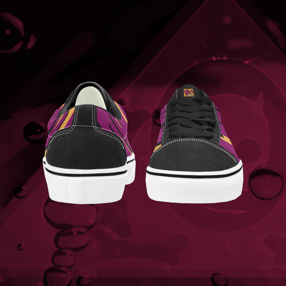 UGLY logo low top skate shoes The Lowest of Low Tang