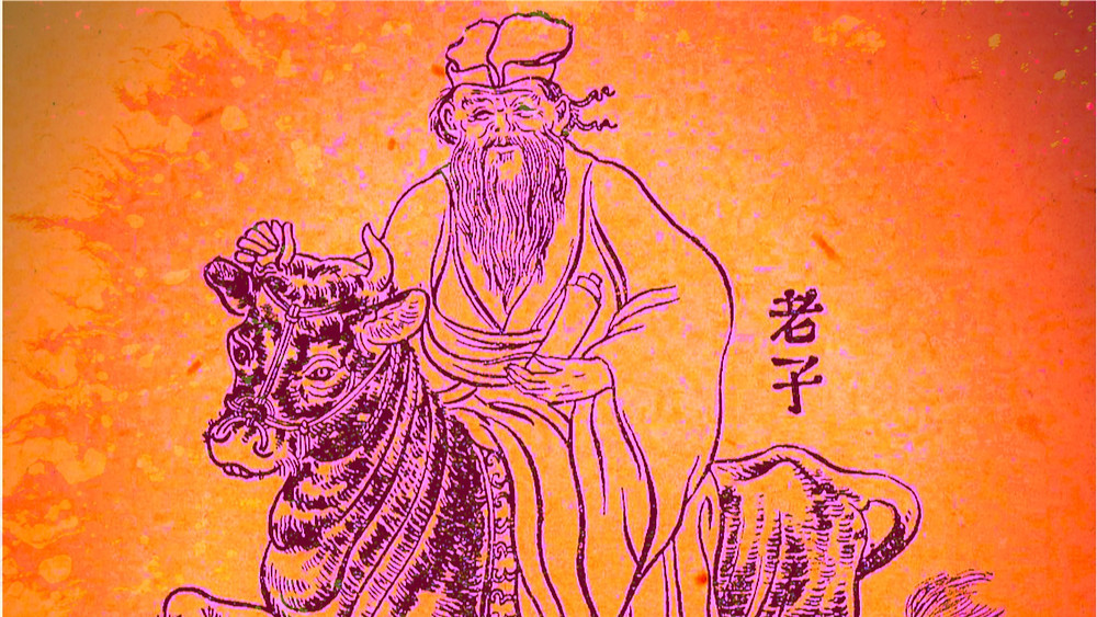 Lao Tzu Riding a Bull Chinese sage