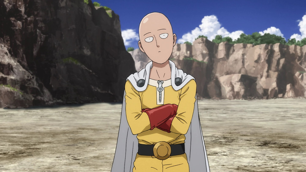 One Punch Man Saitama with crossed arms