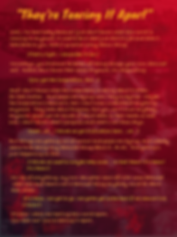 They're Tearing It Apart Lyrics The  Lowest o Low song artwork lyric sheet charcter-based storytelling point of view redneck futuristic science fiction dystopia tragedy