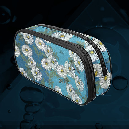The Lowest of Low Daisies Art Supplies Pencil Case Makeup Brushes Travel Toiletries zipper bag Night Blossoms