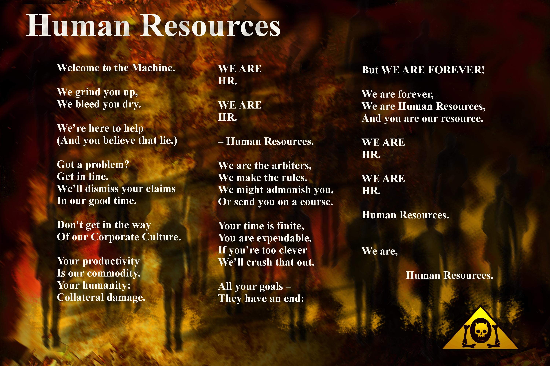 Human Resources Lyrics Sheet