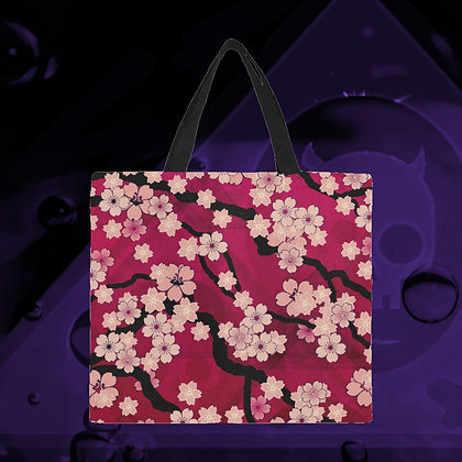The Lowest of Low sakura breeze Japanese cherry blossom design large capacity canvas reusable bag eco-friendly shopping beach