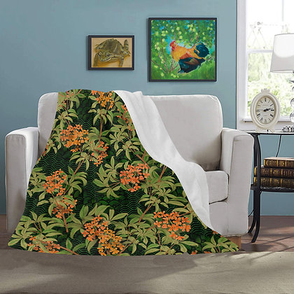 The Lowest of Low Kinmokusei 2020 Ultra-soft Microfleece Blanket floral Japanese elegant warm