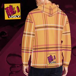 UGLY tartan zipper sweatshirt jacket hoodie The Lowest of Low Tang