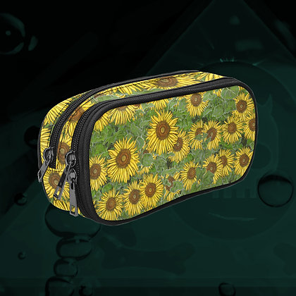 The Lowest of Low Sunflower Field Art Supplies Pencil Case Makeup Brushes Travel Toiletries zipper bag