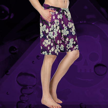 The Lowest of Low Sakura Breeze All-Over Print Long Shorts for Long Summer Days (6 Colours) Chill Violet