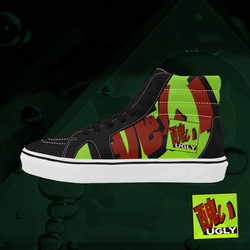 UGLY logo high top skate shoes The Lowest of Low Lime
