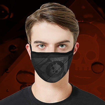 The Lowest of Low Japanese Banner Face Mask fully washable reuseable cool design 3 sizes 8 colours smoke