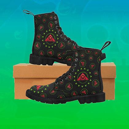"Skull Triangle ""Roses"" Martin Boots"