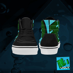 UGLY logo high top skate shoes The Lowest of Low Acqua