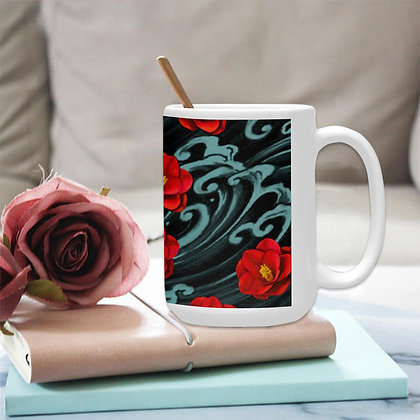 The Lowest of Low floral Kurosawa Camellias Art Mug Set with coaster matching elegant affordable premium gift idea