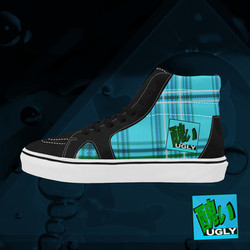 UGLY tartan high top skate shoes The Lowest of Low