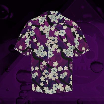 The Lowest of Low Sakura Breeze Hawaiian Leisure Skate Surf Short Sleeve Roomy Shirt Chill Violet