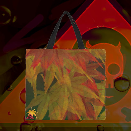 The Lowest of Low designer Japan Maple Autumn LARGE big reusable canvas shopping / carry / beach bags eco-friendly sturdy