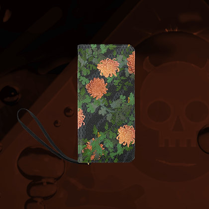 The Lowest of Low Chrysanthemum 2020 clutch purse wallet bag sturdy compact fabulous strong metal zipper floral design