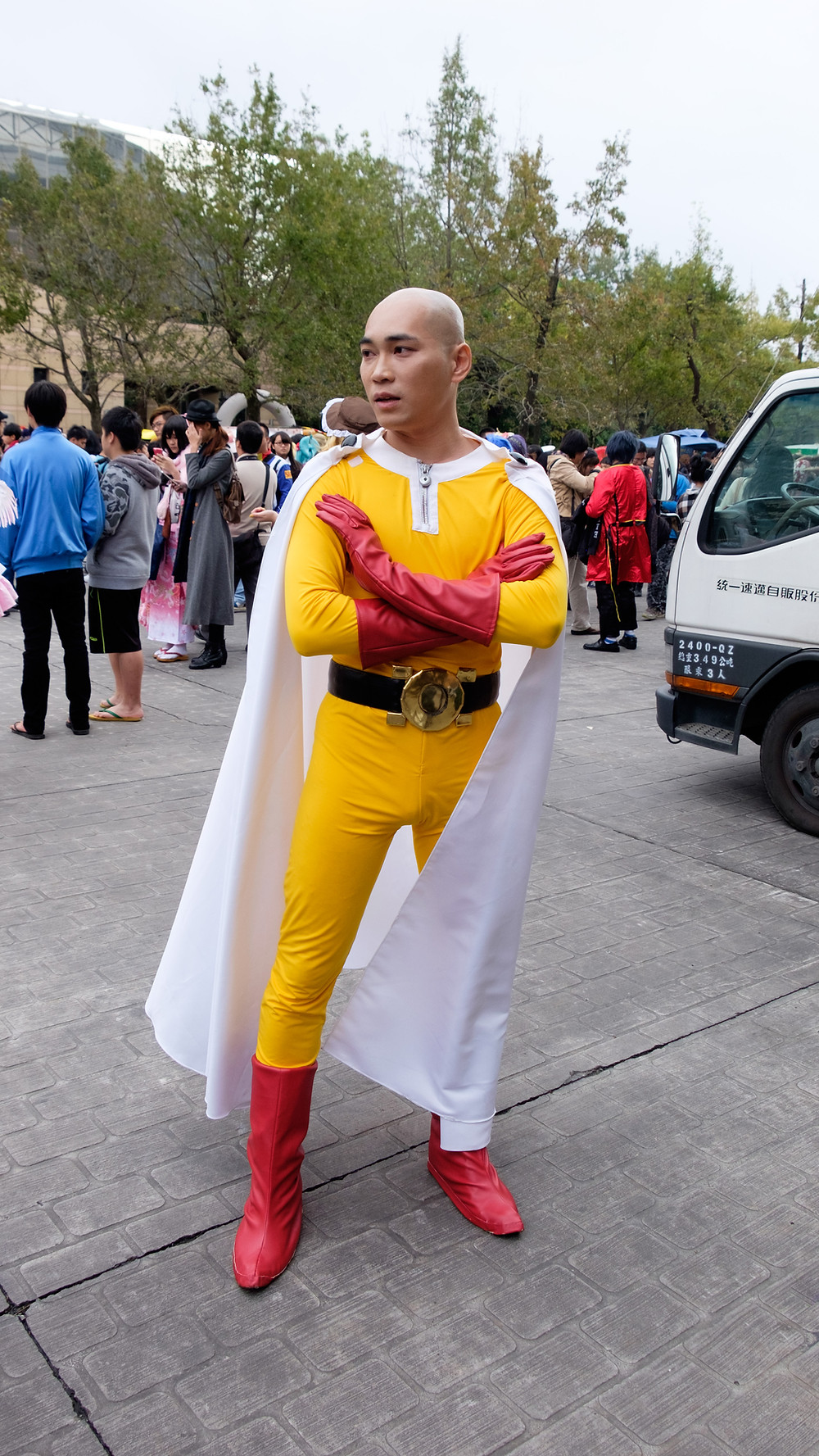 One Punch Man cosplay in Japan