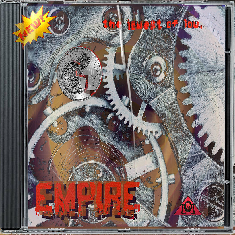 The Lowest of Low Empire CD album cover cracked plastic broken mind worn gears music art image