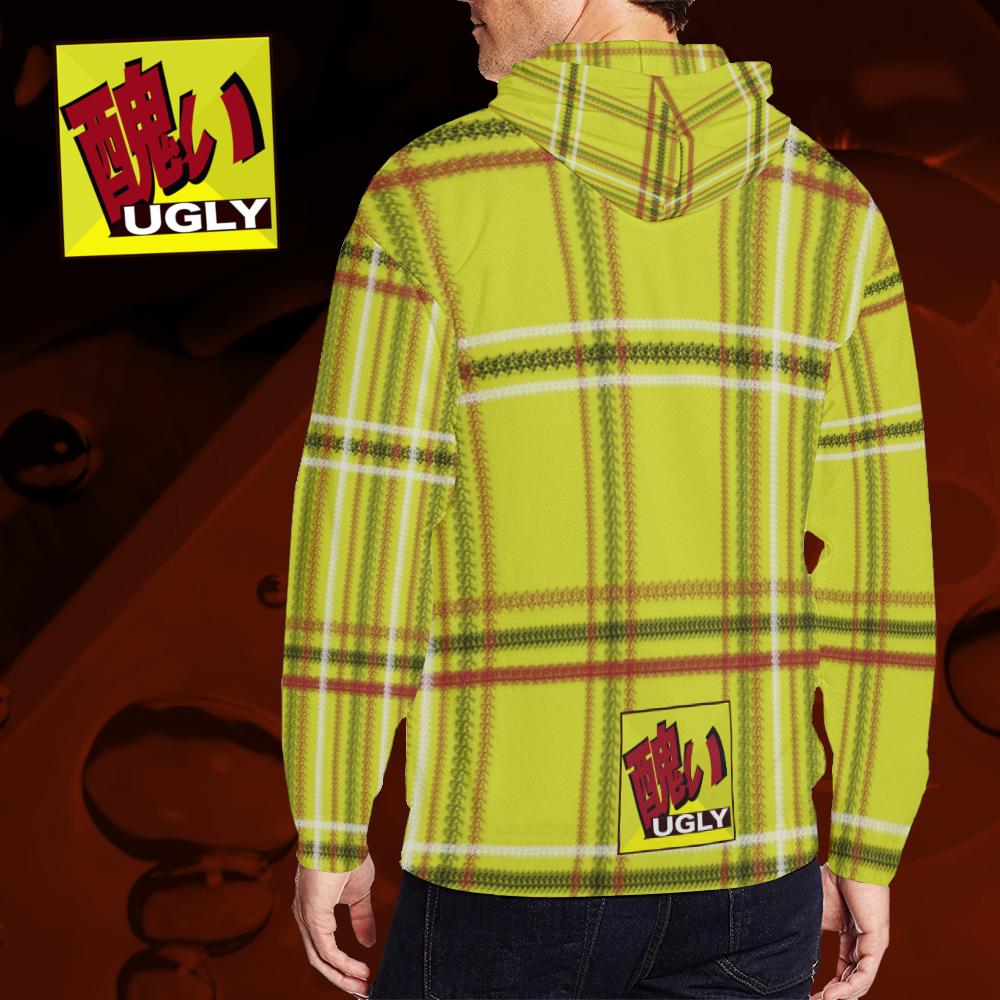 UGLY tartan zipper sweatshirt jacket hoodie The Lowest of Low Original gold