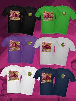 The Lowest of Low Sicilian/Italian designer streetwear 100% cotton tshirt Pericolo Danger logo front, lizard overlord back