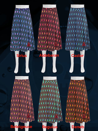 Japanese Stars Crepe Poodle Skirt from The Lowest of Low