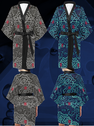 The Lowest of Low Flying Nimbus designer kimono haori wrap dress streetwear nightwear elegant Japanese silky jacket robe