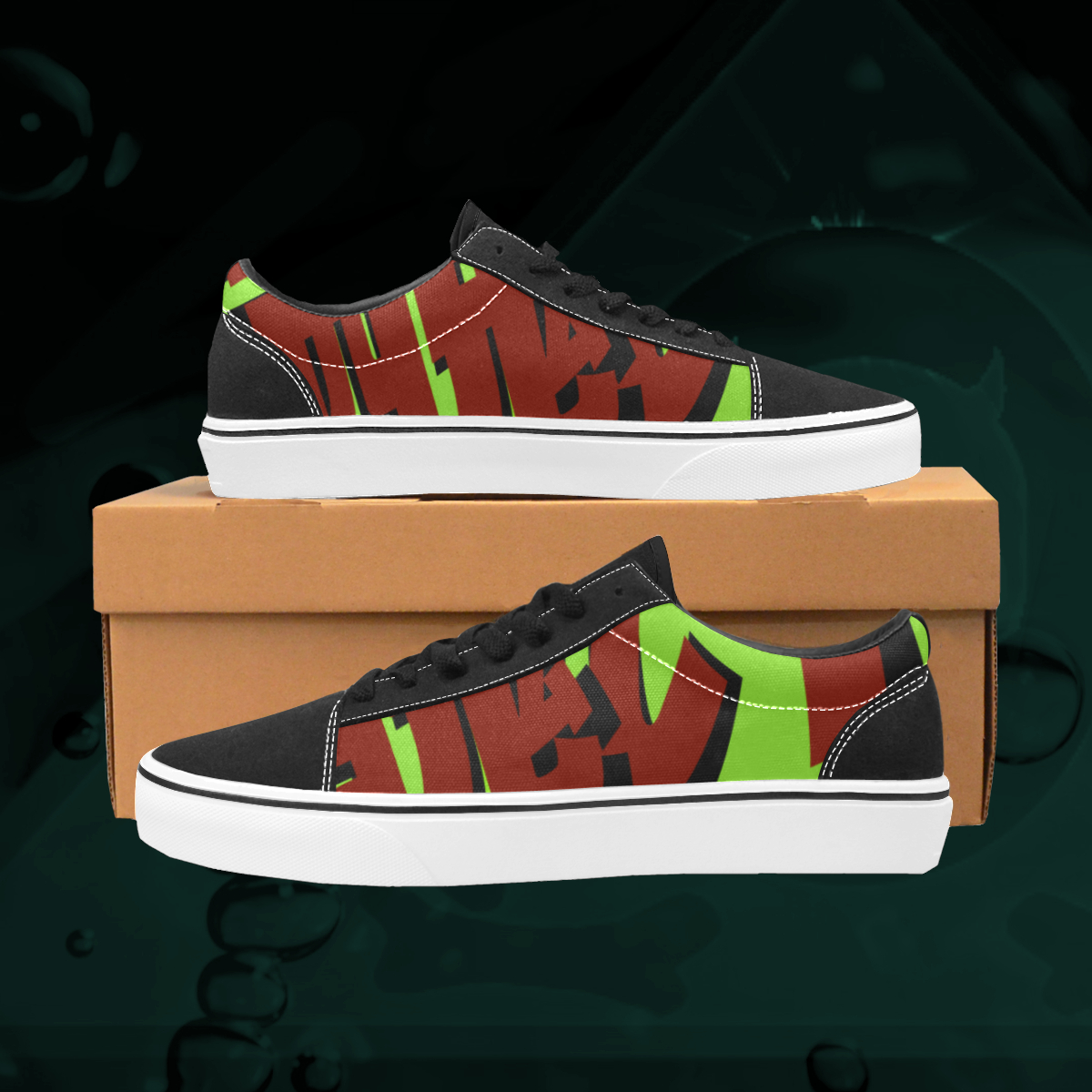 UGLY logo low top skate shoes The Lowest of Low Lime