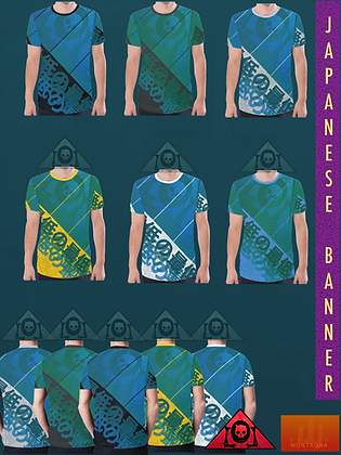 Japanese Banner All-Over Print T-shirts MEDITERRANEAN SEAS