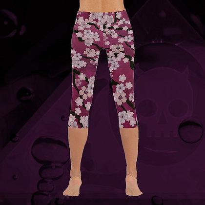 The Lowest of Low Sakura Breeze invisible stitch capri leggings sports comfort yoga Peaceful Plum