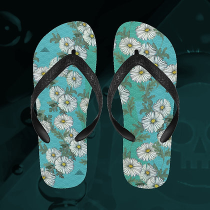 The Lowest of Low Daisies Flip Flops beach shower swimming pool summer fun shoes Mediterranean