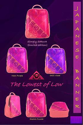 Japanese Banner Backpacks -- Sakura Pink