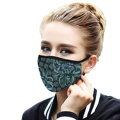 The Lowest of Low Chrysanthemum face mask fully washable reusable 3 sizes 2 designs 2 colours