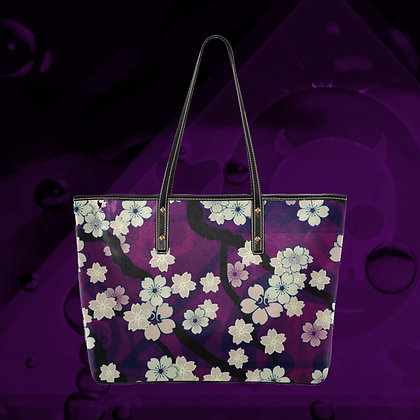 The Lowest of Low Sakura Breeze Gigantic PU Leather ecopelle tote bag premium quality sturdy tote Chill Violet