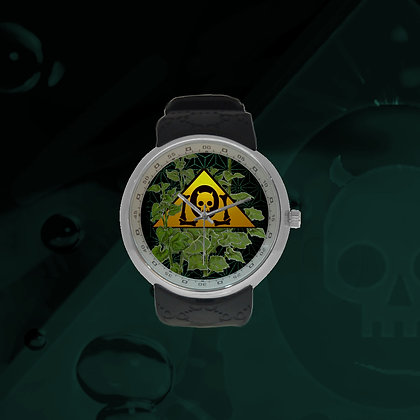 The Lowest of Low Sunflower Foliage Logo Fashion Analog Watch timepiece wristwatch future retro style face