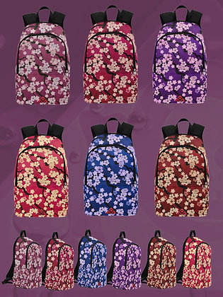 Sakura Breeze Cherry Blossom design waterproof backpacks