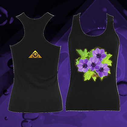 The Awesome Anemone Shoulderless Racing Back 100% Cotton Tank Top from The Lowest of Low