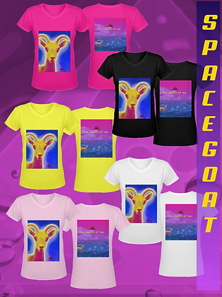 Lady Spacegoat V-neck Tees