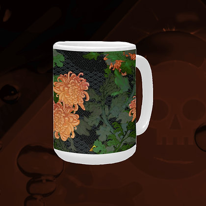 The Lowest of Low floral Chrysanthemum 2020 Art Mug Set with coaster matching elegant affordable premium gift idea