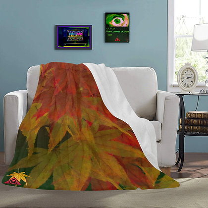 The Lowest of Low Autumn Leaves snuggly fleece throw blanket