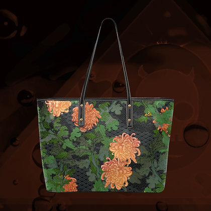 The Lowest of Low Chrysanthemum 2020 LARGE designer PU Leather ecopelle tote bag premium quality sturdy huge