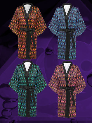 The Lowest of Low Japan Stars designer kimono haori wrap dress streetwear nightwear elegant Japanese silky jacket robe
